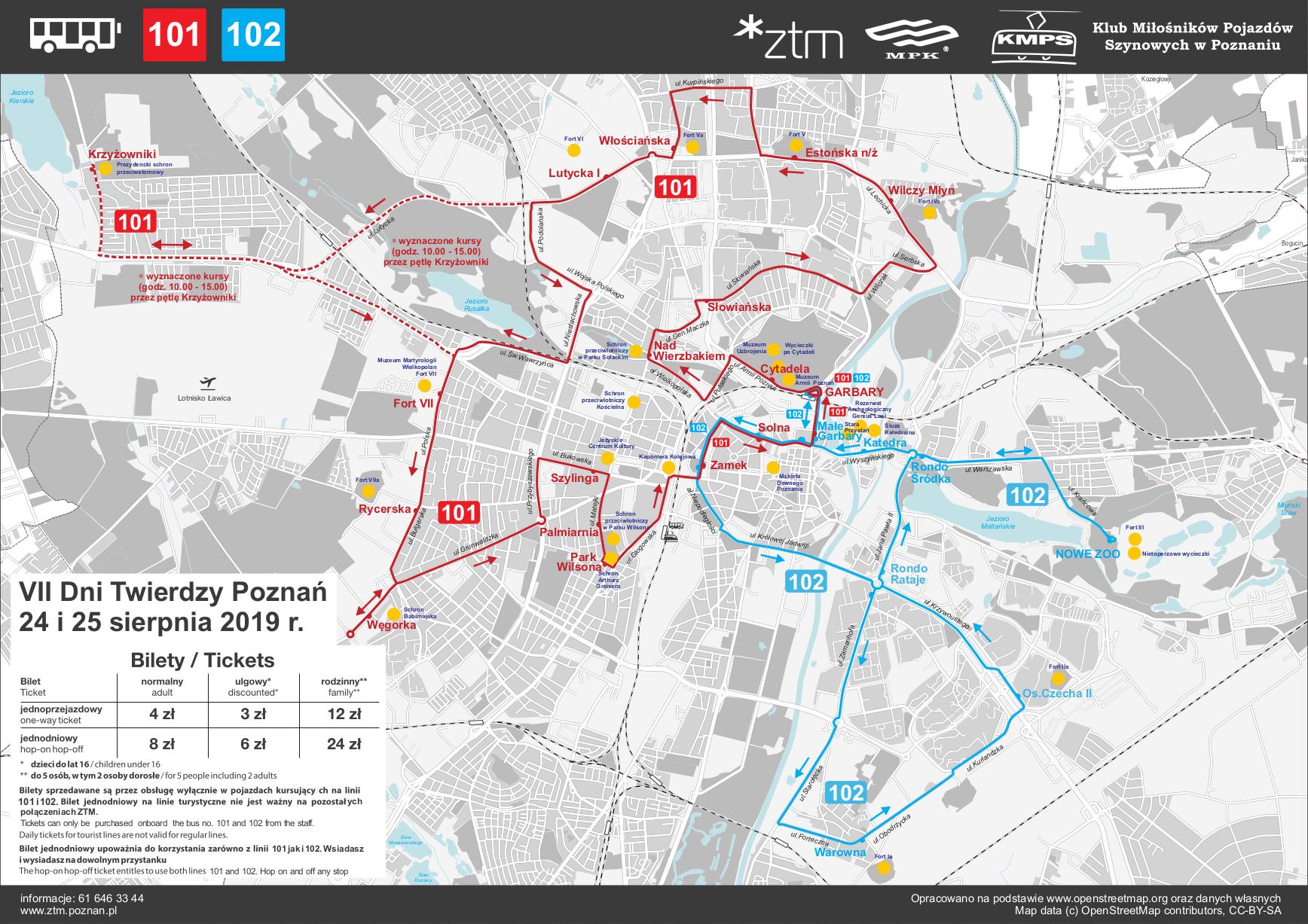 Dni Twierdzy Poznań 2019: forteczna linia autobusowa. Źródło: ZTM Poznań