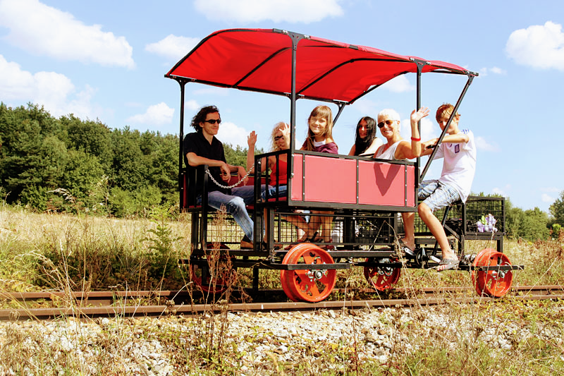 Mosina Handcar Railway (Photo by Archive of the Mosina Handcar Railway)