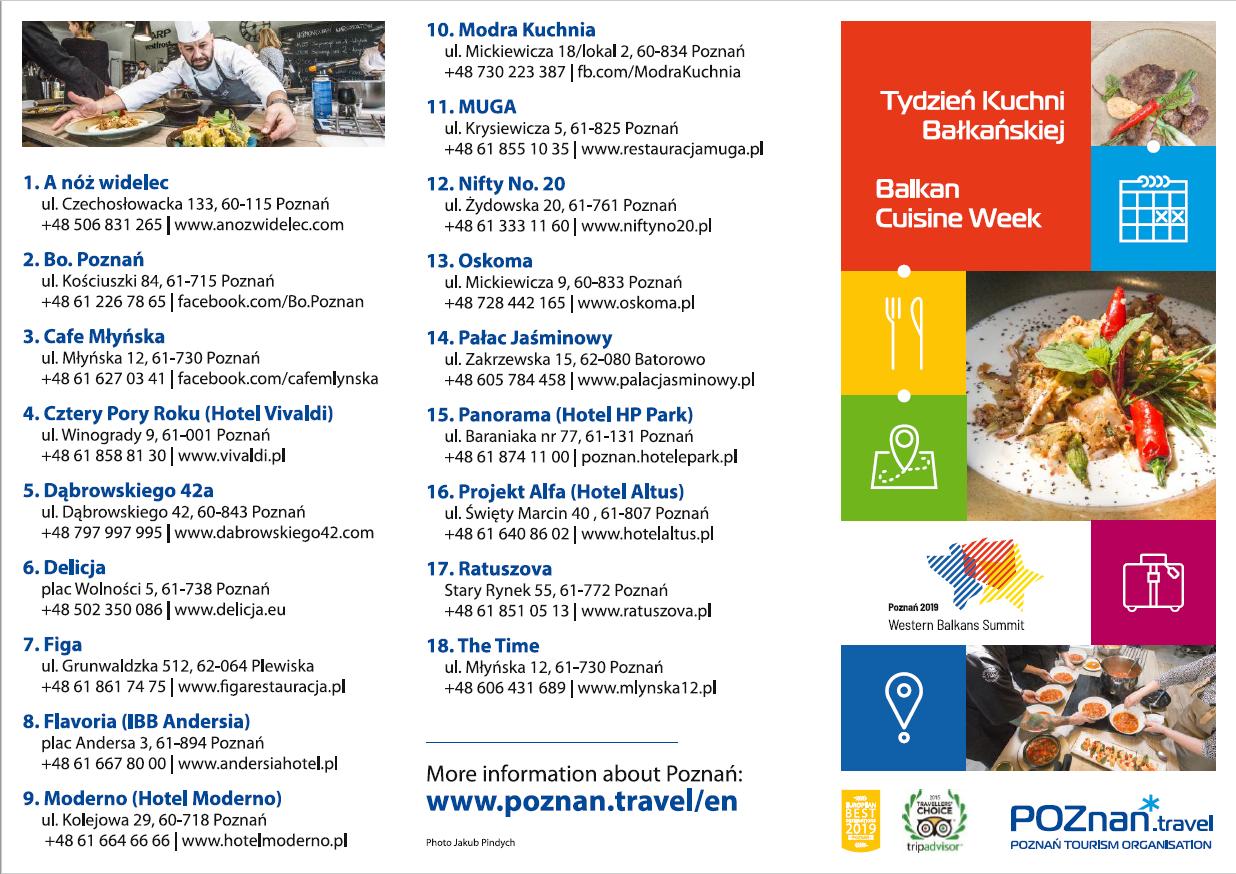 Tydzień Kuchni Bałkańskiej 1 7 Lipca 2019 Poznantravel